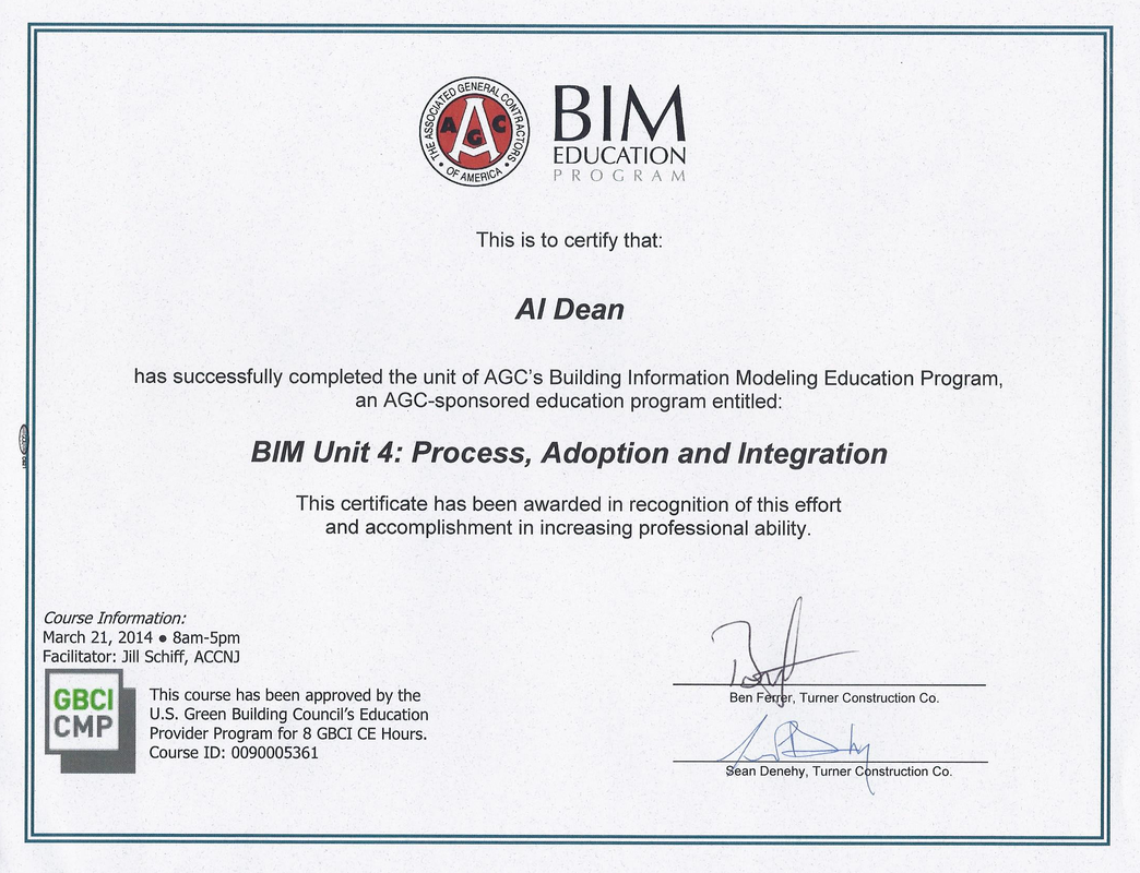 Al Dean Cm Bim Certifications