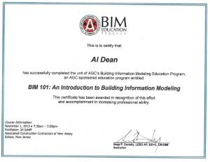 BIM-101 Al Dean CM-BIM Certification