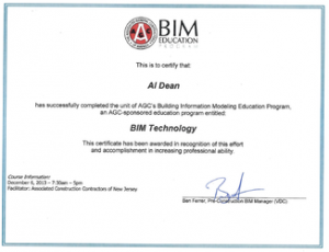 BIM Technology Al Dean CM-BIM Certification